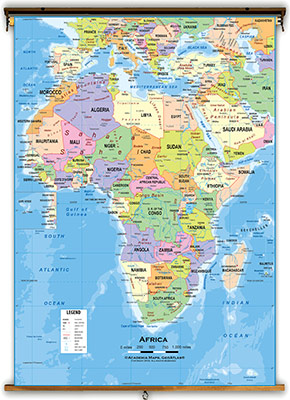 Africa Continent Maps - Academia Maps Printable State Capitals Map
