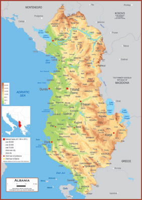 Albania maps