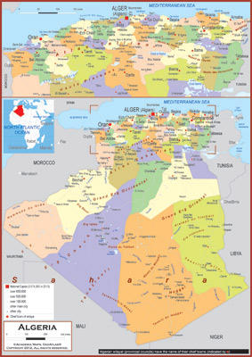 Algeria Maps Academia Maps - Political map of algeria