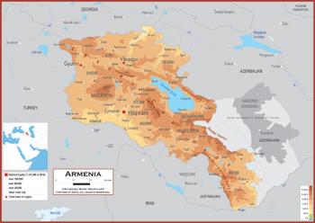 Armenia Maps Academia Maps - Armenia physical map