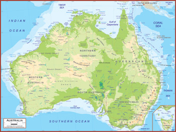 Australia Maps - Academia Maps on landmarks of australia, highest mountain in australia, aerial view of australia, plants of australia, physical map asia, states of australia, geography of australia, physical characteristics of australia, terrain of australia, physical regions of australia, outback australia, detailed map australia, melbourne australia, political features of australia, physical maps of vietnam, coral sea australia, climate of australia, perth australia, timeline of australia, physical map china,