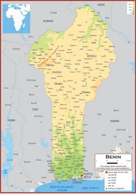 Benin Maps - Academia Maps