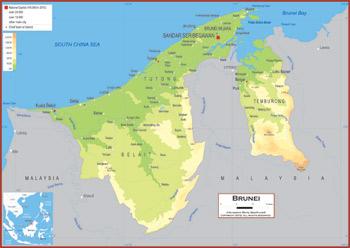 Brunei Maps Academia Maps - Brunei map