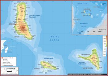 Comoros Maps Academia Maps - Comoros map