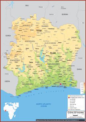 Côte D\'Ivoire Maps - Academia Maps