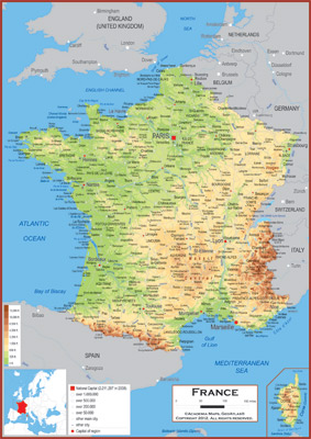 France Maps Academia Maps - France geographical map