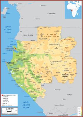 Gabon Maps Academia Maps
