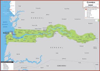 Gambia Maps Academia Maps - Gambia map