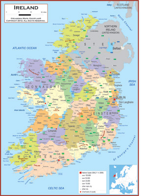 Ireland maps academia maps political map key features sciox Images