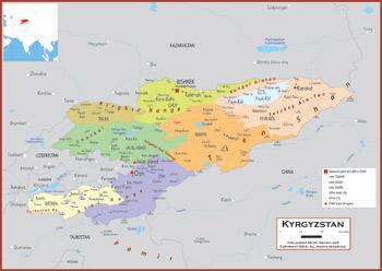 Kyrgyzstan Maps Academia Maps