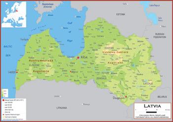 Latvia Maps - Academia Maps