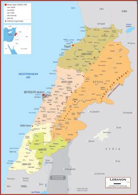 Lebanon Maps Academia Maps