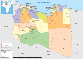 Libya maps academia maps political map key features gumiabroncs Gallery