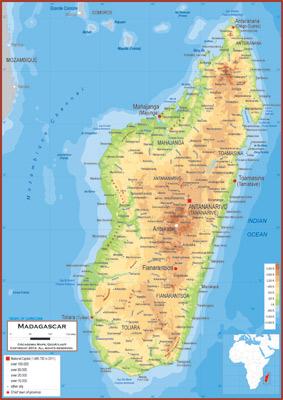 Topographic Map Of Madagascar.Madagascar Maps Academia Maps