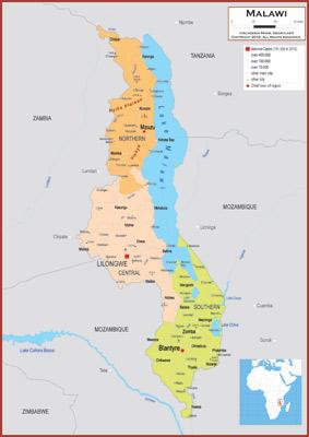 Malawi Maps Academia Maps - Malawi map