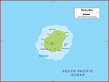 Nauru Map Academia Maps