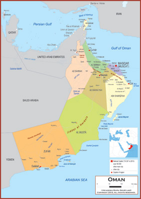Oman maps academia maps political map key features gumiabroncs Image collections