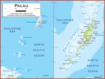 Palau Map Academia Maps - Palau map