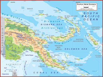 Papua New Guinea Maps Academia Maps - Papua new guinea map