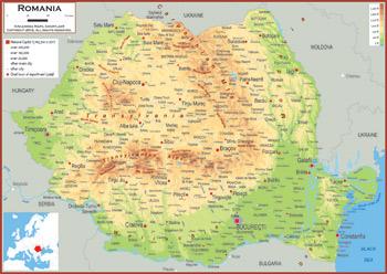 Romania Maps Academia Maps - Romania map