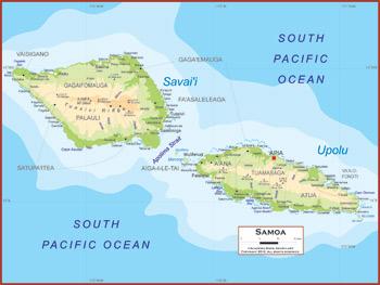 Samoa Maps Academia Maps
