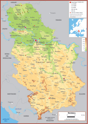 Serbia Maps Academia Maps - Map of serbia
