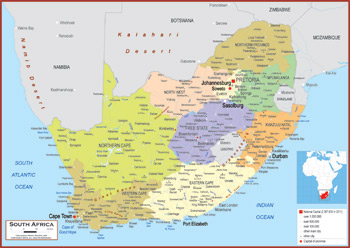South Africa Maps Academia Maps - South africa political map