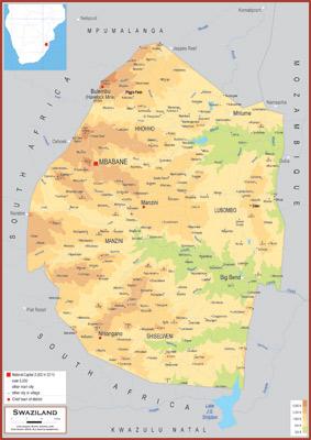 Swaziland Maps Academia Maps