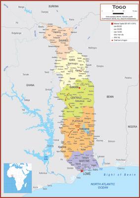 Togo Maps - Academia Maps