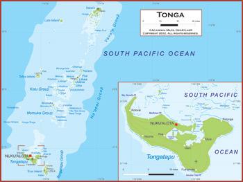 Tonga Map Academia Maps - Tonga map