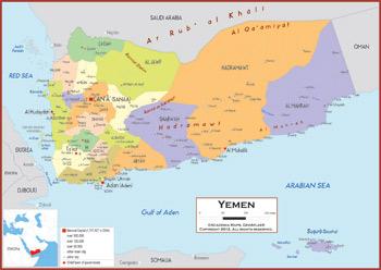 Political Map Of Yemen.Yemen Maps Academia Maps