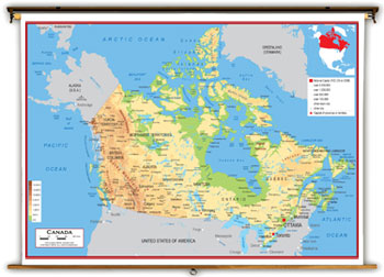 Canada Maps Academia Maps - Physical features in canada