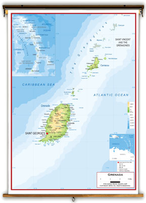 Grenada Maps Academia Maps - Grenada maps with countries