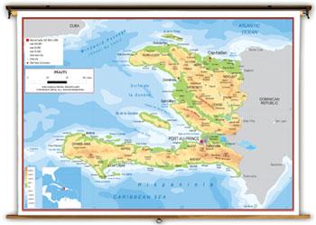 Haiti Maps Academia Maps - Haiti physical map