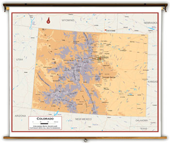 Colorado State Maps Academia Maps - Colorado state map