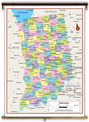 Indiana State Maps Academia Maps - Indiana physical map