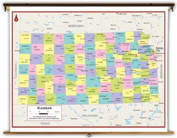 Kansas State Maps - Academia Maps on
