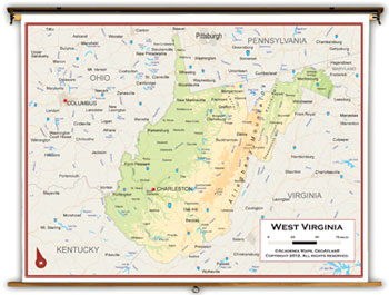 West Virginia State Maps Academia Maps - Virginia physical map